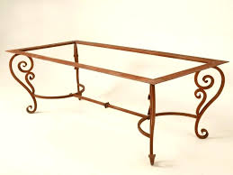 wrought iron dining table bases coffee wrought iron and glass coffee table dining table legs iron