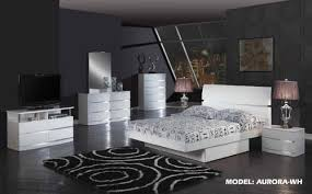 Aurora White Glossy Bedroom Set By Global Furniture Extraordinary Glossy White Bedroom Furniture