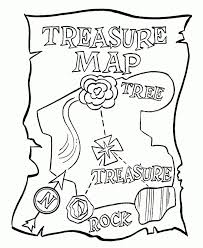 Treasure Chest Coloring Page Pirate Treasure Map Coloring Pages Az