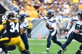 Seahawks Current Depth Chart Russell Wilson And Seahawks Sink Steelers To 0 2 After 28 26