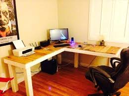 pallet furniture desk. Pallet Computer Desk L Shaped Furniture Plans  Design Of .
