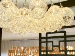 modern gold bubble chandelier