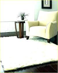 fuzzy white rug