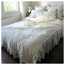 beige duvet cover king duvet cover queen king oversized french country home farmhouse bedding oatmeal beige