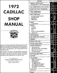 cadillac repair shop manual original this manual covers all 1972 cadillac models including deville eldorado calais fleetwood sixty special brougham fleetwood 75 fleetwood limousine