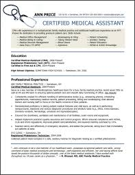 Certified Medical Assistant Resume Samples Resume Templates Healthcare Resume Template Resume Examples 46