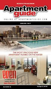 Client: Baltimore Apartment Guide Front cover design for Eden Apartments