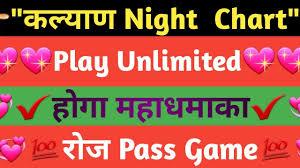 Kalyan Night Chart Kalyan Night Guru Chart Live Update 12 8 2019 To 16 8 2019 Chart