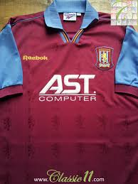 The history of aston villa f.c. Aston Villa Home Football Shirt 1995 1997 Sponsored By Ast Computer