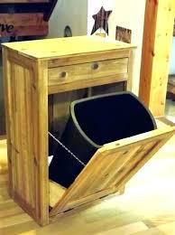 diy trash can cabinet tilt trash can cabinet out fascinating wood plans door hamper diy trash can
