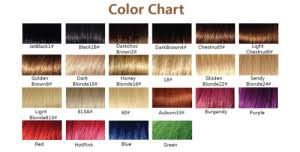 Hair Extension Color Chart Hair Extension Colour Ring