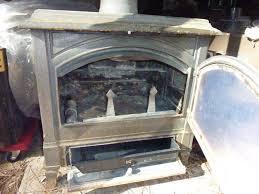 image of used wood burning stove