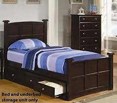 full size bed with drawers. Wonderful Drawers Amazoncom Youth Full Size Bed With Under Drawers In Rich Cappuccino  Finish Kitchen U0026 Dining Throughout With R