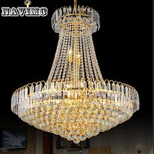 royal empire silver crystal chandelier light french golden crystal hanging light diameter 50cm pendant lamp shades glass pendant light shades from