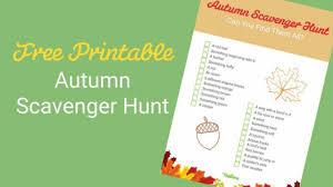 Web Design Scavenger Hunt Download Your Free Autumn Scavenger Hunt For Kids