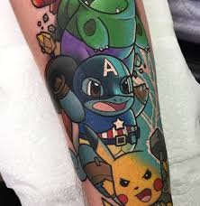 Epicgamerink Epic Gamer Ink Pokemon Avengers Tattoos Done By