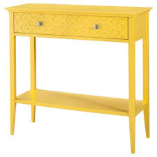 mercantila furniture. yellow furniture fretwork console table decor color mercantila
