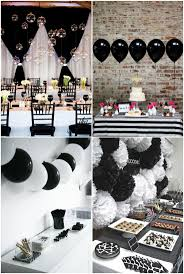 Black And White House Party Decorations