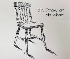 draw an old chair 23 idea for a sketchbook