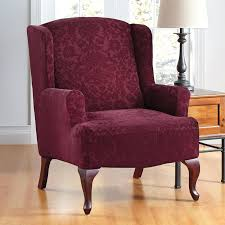 Back Wingback Chair Slipcovers Amazon With Square Cushion