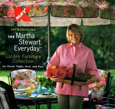 this is the cover of the original catalog that introduced the first martha stewart patio collections in addition to the outdoor furniture lines with kmart