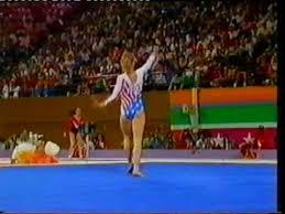 Kathy Johnson (USA) - 1984 Olympics AA - Floor - YouTube
