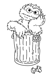 Small Picture Oscar The Grouch Daydream Sesame Street Coloring Pages
