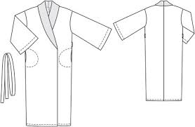 Robe Sewing Pattern Custom Silk Robe 4848 48 Sewing Patterns BurdaStyle