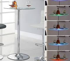 led glass bar table chicago