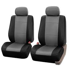 pu leather 47 in x 23 in x 1 in half set front seat covers
