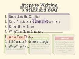 standard dbqs step write your thesis