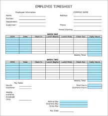 Timesheet Formulas In Excel Free Excel Timesheet Template With Formulas Employee Template Free