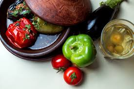 Three Sisters Dolma With Aubergine Tomato And Bell Pepper
