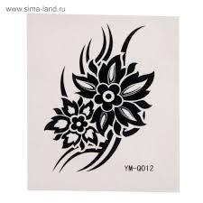 татуировка на тело черный цветок 2584401 купить по цене от