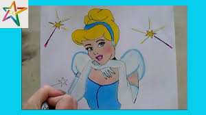 how to draw and color disney princess cinderella from cinderella with colorcraze coloring book fun you