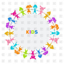 colorful frame border design. Round Frame With Colorful Silhouettes Of Kids Royalty Free Vector Clip Art Border Design E