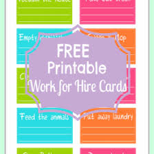 chore chart template for teenagers free printables archives chore cards and school