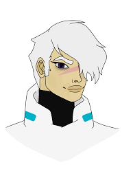 Drew a smol shiro on my friend's surface pro 4!! Season Six Shiro Drawing Voltron