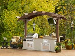 outdoor kitchen with oven fireplace