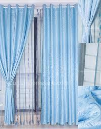 simple custom made living room dining room or bedroom light blue curtains