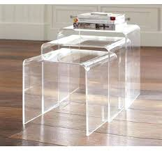 stackable coffee table 3 acrylic table set stackable coffee table books