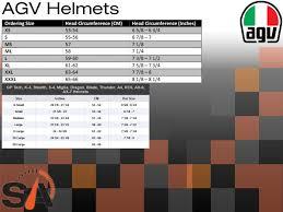 Agv Corsa R Size Chart Agv Corsa R Solid Black Red Helmet