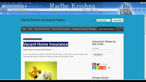 vacant home insurance quote