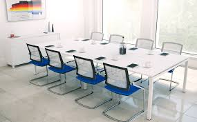 white modern office. Furniture. Luxurious White Modern Conference Table For Contemporary Office F