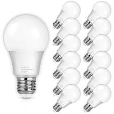 100 Watt Equivalent A19 Led Light Bulb A19 Led Light Bulbs 100 Watt Equivalent Led Bulbs 4000k Daylight White 1100lumens Non Dimmable Medium Screw Base E26 Cri80 12 Pack