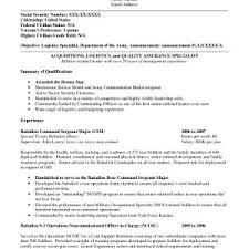 Sample Resume For A Quality Assurance Specialist Valid Example A