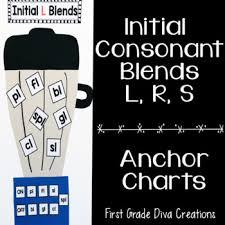 Consonant Blends Anchor Chart Initial Consonant Blend Anchor Charts Bonus Partner Games