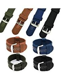 amazon co uk canvas watch straps accessories watches charminer 18 20 22 24mm mens army military nylon fabric canvas watch band strap armygreen 18mm