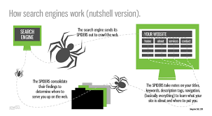 how search engines work nutshell version visual ly how search engines work nutshell version infographic