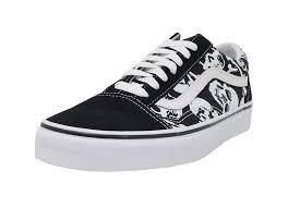 Vans Old Skool New Design Vans Skulls Old Skool Unisex Mens Skateboarding Shoes Vn 0a38g1h0b_10 5 Black White